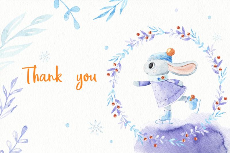 christmas-bunny-watercolor-set