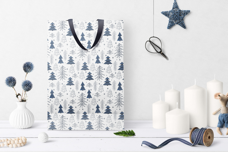 winter-forest-seamless-patterns