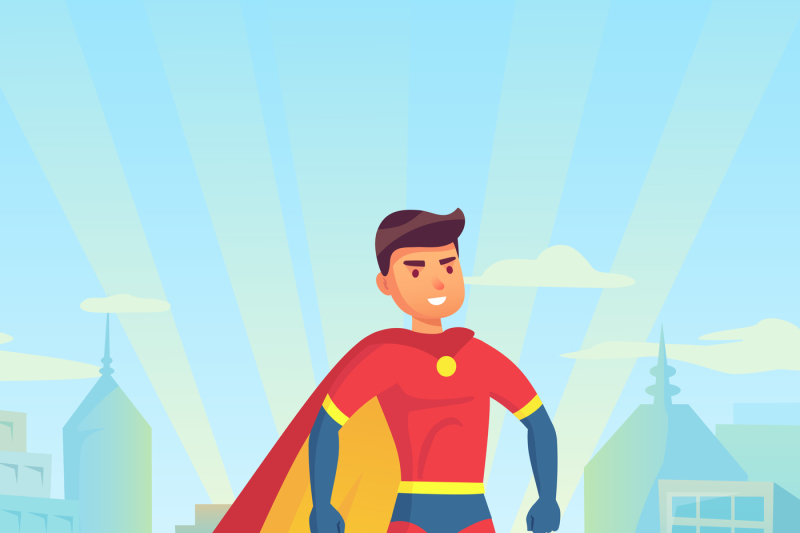 cartoon-superhero-watching-city-comic-powerful-man-hero-in-super-sui