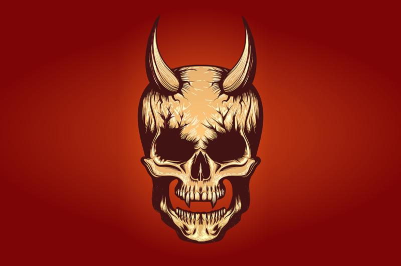 devil-skull-illustration