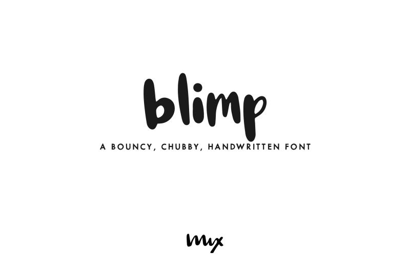 blimp-mdash-a-handwritten-font