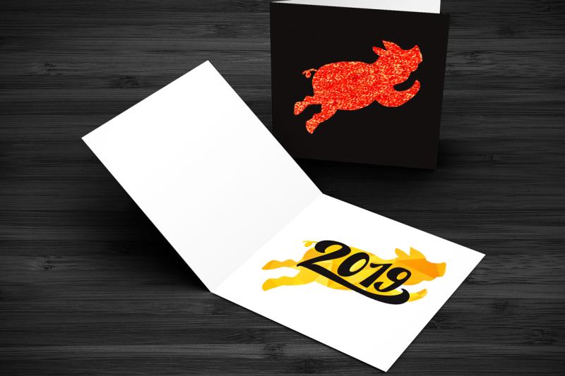 2019-new-year-symbols-set