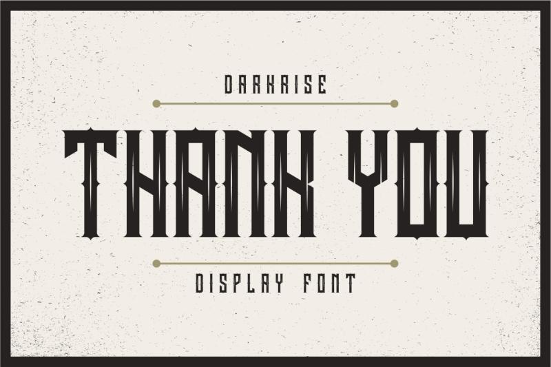 darkrise-typeface