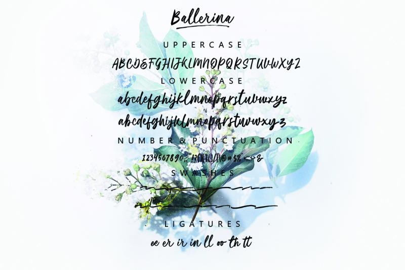 ballerina-script-font