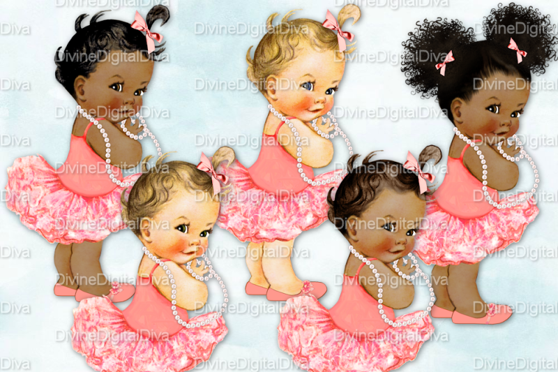 vintage-baby-girl-set-ballerina-coral-and-pearls