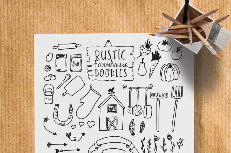 eliott-and-fern-rustic-font-duo-farmhouse-doodles