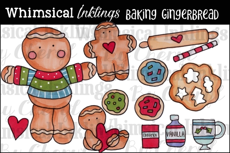 baking-gingerbread-clipart-collection