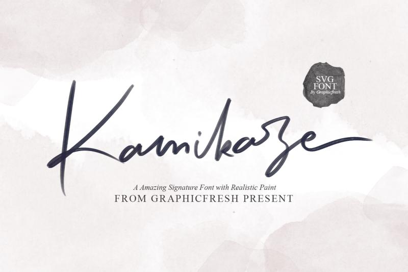 kamikaze-svg-font