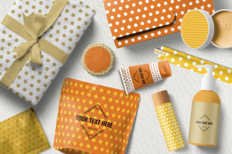 polka-dot-orange-digital-paper