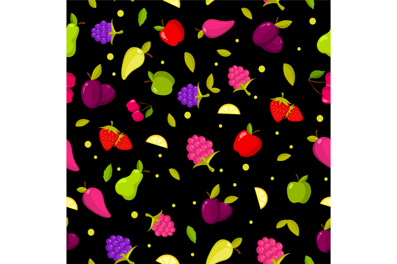 vector-seamless-summer-fruits-pattern-colorful-cartoon-background