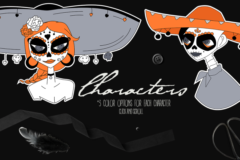 halloween-and-santa-muerte-graphics