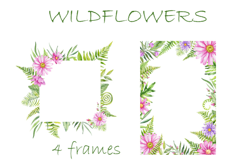 pink-wildflowers-watercolor-graphic-collection