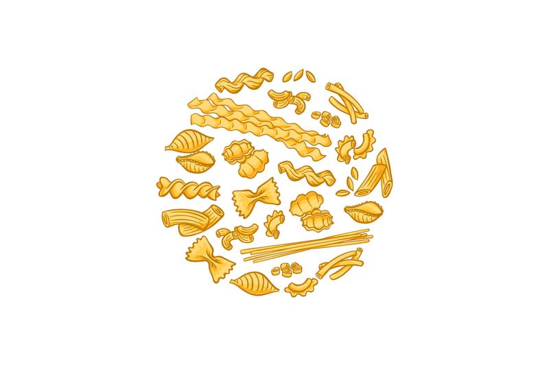 vector-cartoon-pasta-types-concept-illustration