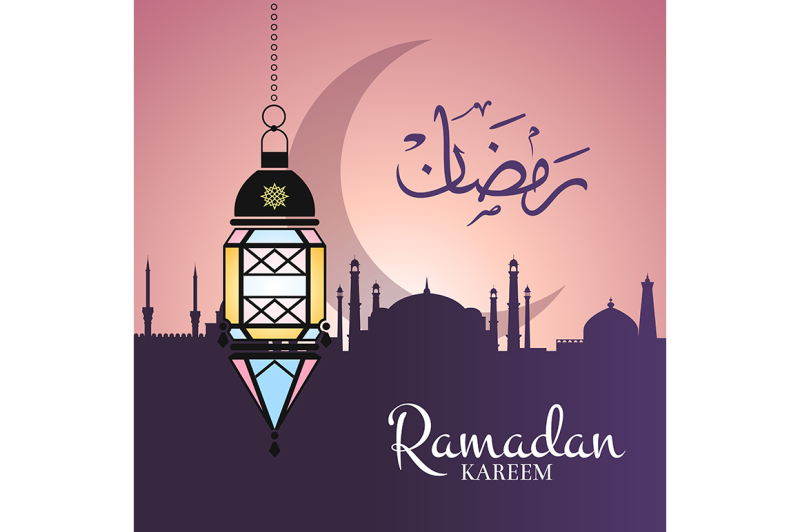 vector-ramadan-illustration-with-hanging-lantern-and-arabic-city