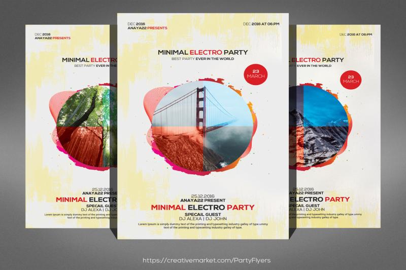 minimal-eletro-party-flyer