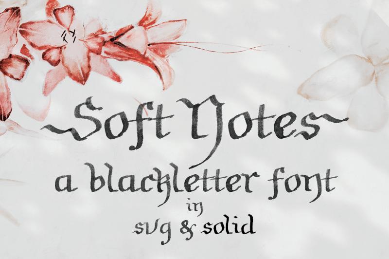 soft-notes-a-svg-font