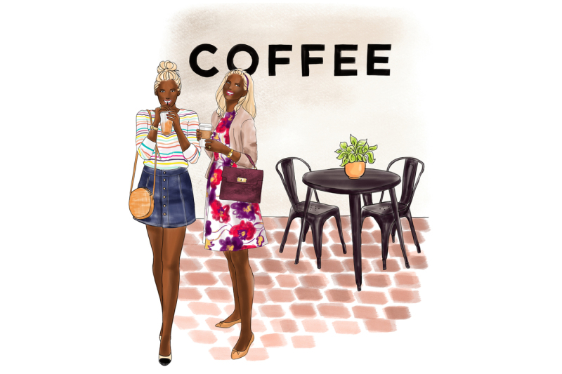 watercolor-fashion-clipart-coffee-girls-4-dark-skin