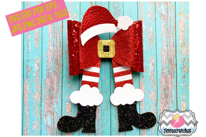 christmas-santa-legs-hat-and-shoes-hair-bow-template