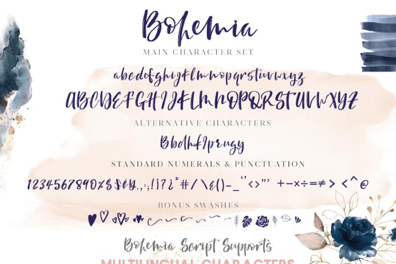bohemia-brush-script