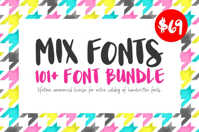 101-handwritten-font-bundle