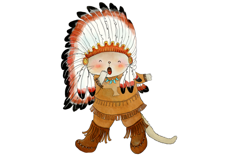 native-indian-cats-clip-art-7-png-jpeg-illustrations