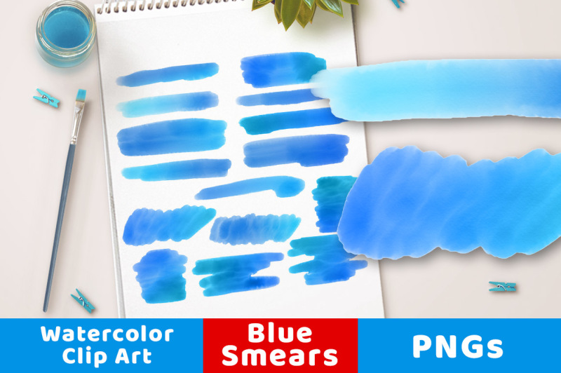 blue-watercolor-clipart-smears-watercolor-clipart-blue-strokes