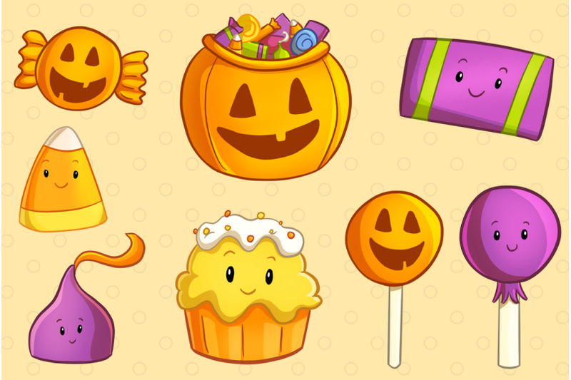 spooky-sweets-clip-art-collection