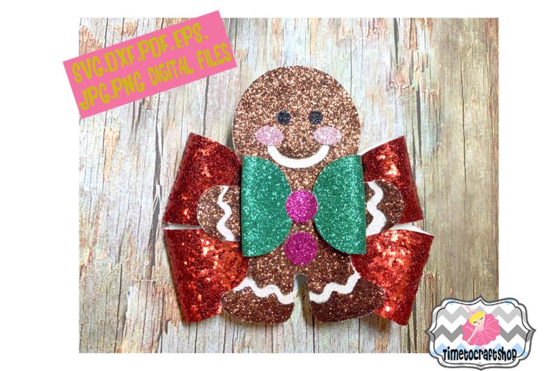 holiday-christmas-gingerbread-man-hair-bow-template
