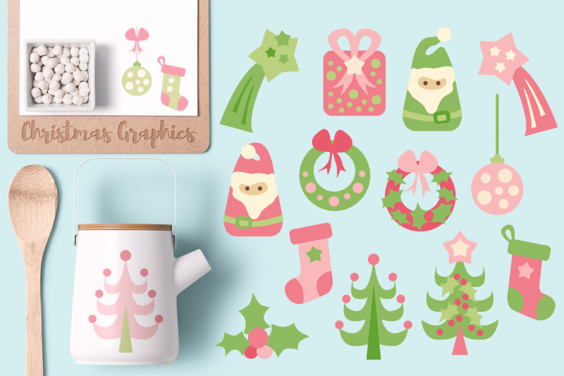 cute-christmas-graphics-pink-lime-green