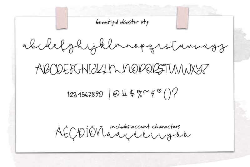 beautiful-disaster-script-handwritten-font