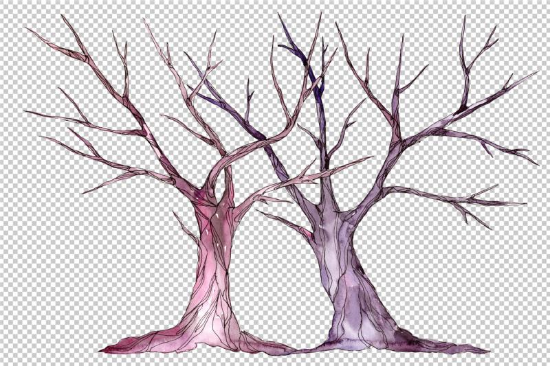 wedding-trees-png-watercolor-set-nbsp