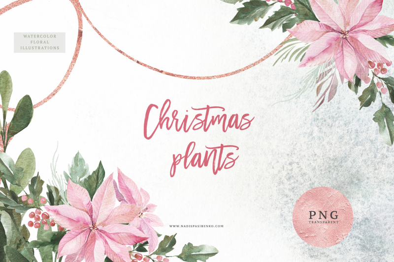 watercolor-christmas-plants