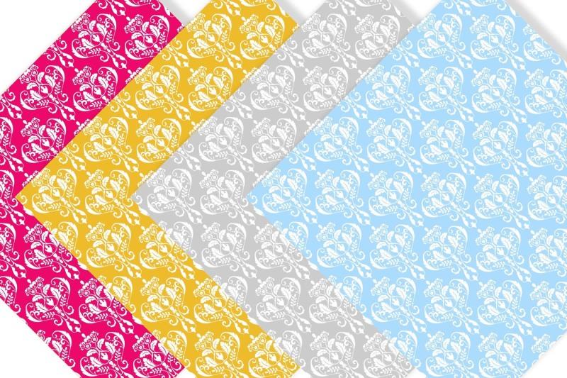 damask-digital-paper-bundle