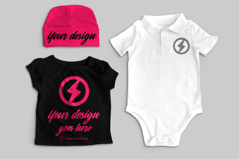 Free Baby Clothes | Mock Up (PSD Mockups)