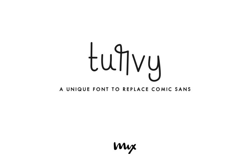 turvy-a-comic-sans-replacement