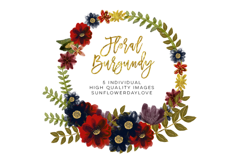 Watercolor burgundy flower Wreaths, marsala flower Wreath ...