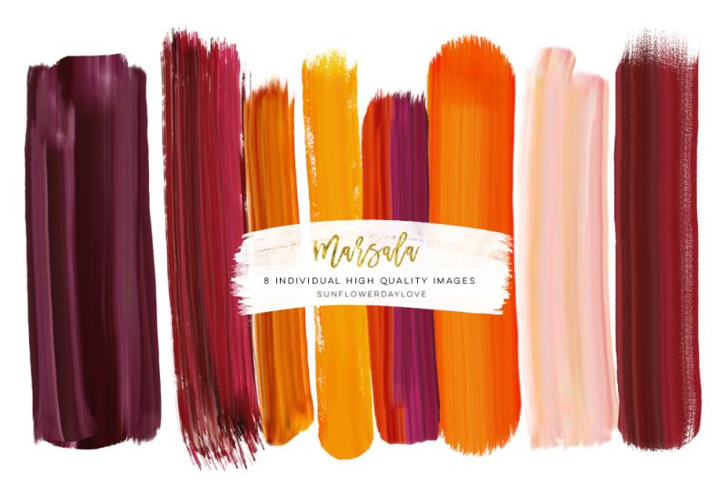 blush-and-marsala-brush-strokes-brush-strokes-clip-art