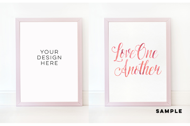 pink-plain-mock-up-frame-simple-mock-up-pink-product-mockups-vertical-frame-mock-up-nursery-frame-stock-photography-elegant-pink-frame