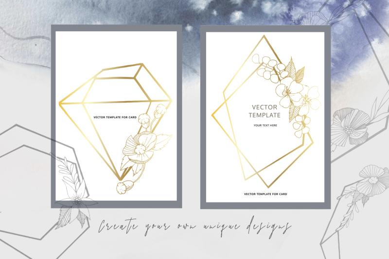 impressive-diamonds-watercolor-and-vector-set