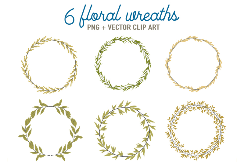 6-green-floral-wreaths