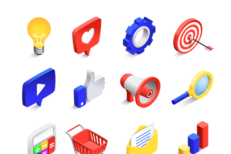 3d-social-marketing-icons-isometric-web-seo-likes-sign-business-mail