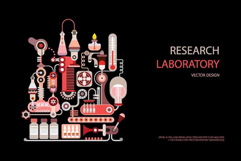 research-laboratory-equipment-vector-design
