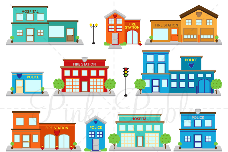 fire-station-and-police-clipart-vectors