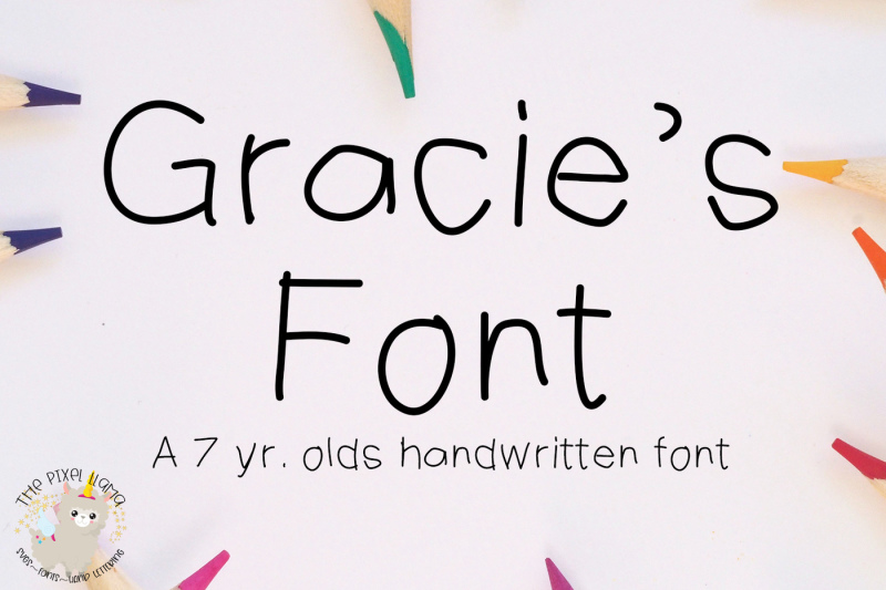 gracie-s-font-a-7-yr-olds-handwritten-font