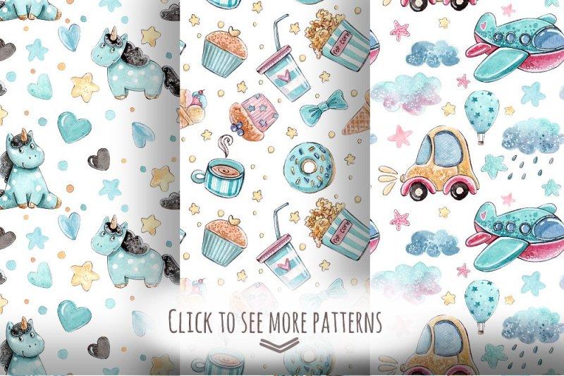 azure-unicorns-set-6-patterns
