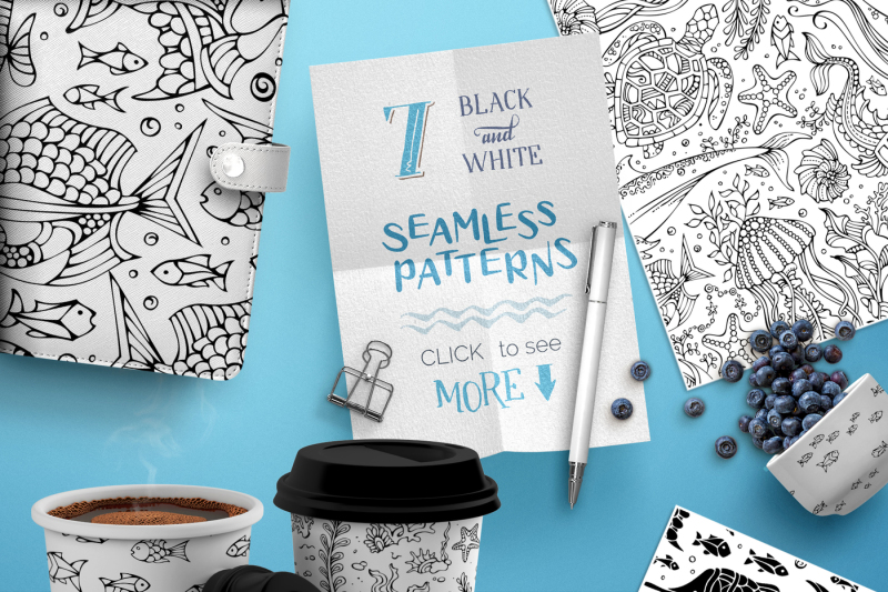 ocean-seamless-patterns-pack
