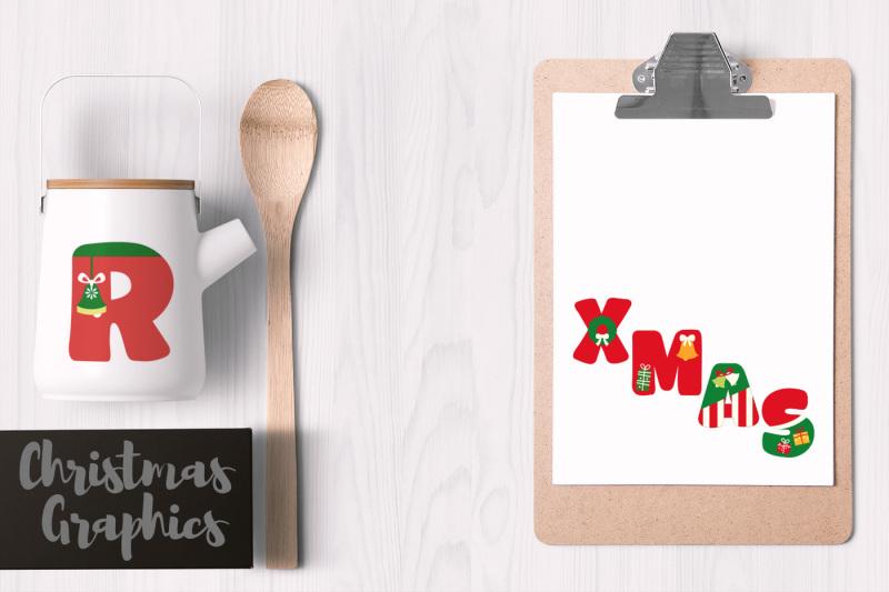 christmas-alphabet-uppercase-letters