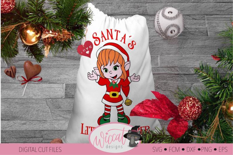 Christmas Girl Elves Svg Christmas Elf Svg Santa S Little Helper