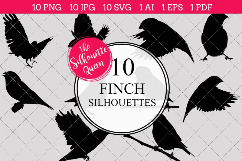 finch-silhouettes-vectors