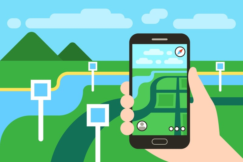 smartphone-with-mobile-gps-navigation-system-and-map-pins-vector-app